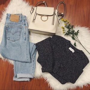 Everlane 100% Wool Gray Marled Sweater